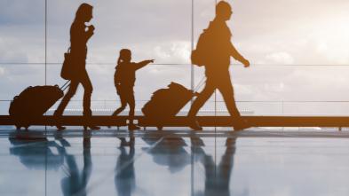Familie auf Reise