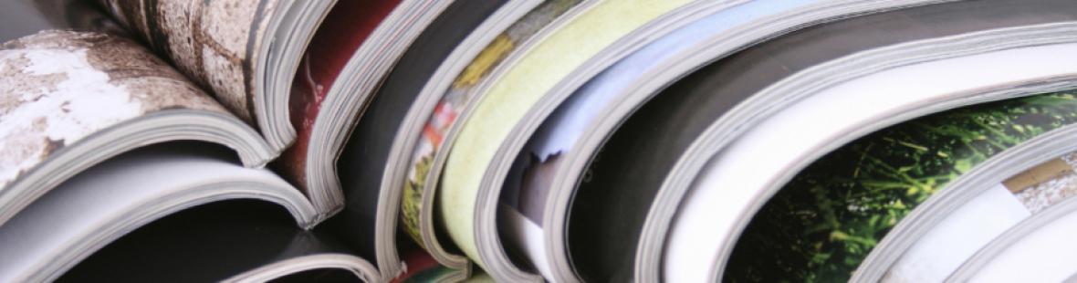 Magazine gestapelt
